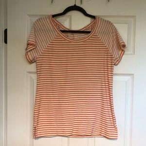 Gap Orange Striped Shirt